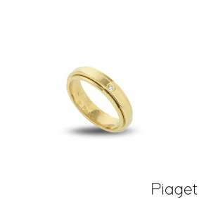 Piaget 18k Yellow Gold Diamond Set Possession Ring B&P G34PJ855